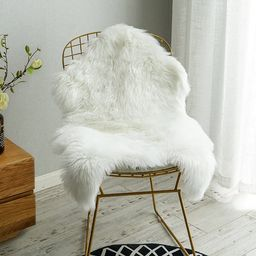 Carvapet Luxury Soft Faux Sheepskin Chair Cover Seat Cushion Pad Plush Fur Area Rugs for Bedroom,... | Amazon (US)
