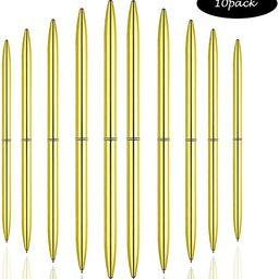 Ballpoint Pens Gold Pen Set 10 Piece Set - Gold Ballpoint Pen Lightweight Metal Black Ink - Gold ... | Amazon (US)