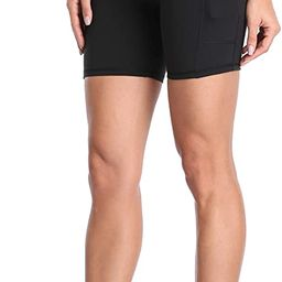 """Women's High Waisted Yoga Shorts with Pockets 6"""" Inseam Workout Shorts   Amazon (US)"""