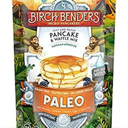 Paleo Pancake & Waffle Mix by Birch Benders, Low-Carb, High Protein, High Fiber, Gluten-free, Low... | Amazon (US)