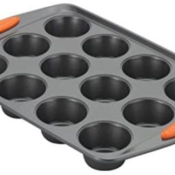 Rachael Ray 54075 Yum -o Nonstick Bakeware 12-Cup Muffin Tin With Grips / Nonstick 12-Cup Cupcake... | Amazon (US)