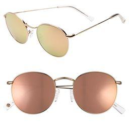 Charlie 50mm Mirrored Round Sunglasses   Nordstrom