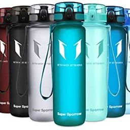 Super Sparrow Sports Water Bottle Multi-Size BPA Free & Eco-Friendly Tritan Co-Polyester Plastic ... | Amazon (US)