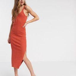 ASOS DESIGN Tall rib knitted sleeveless midi dress   ASOS (Global)