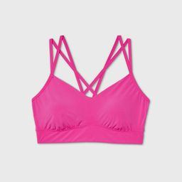 Women's Low Support Strappy Long Line Bra - All in Motion™ | Target