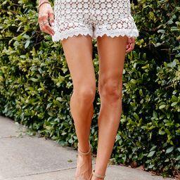 Friday Crochet Ruffle Shorts   Amaryllis Apparel