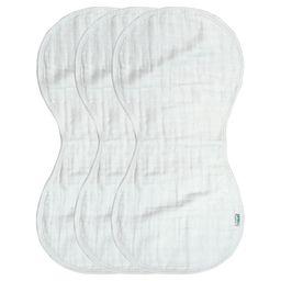green sprouts Organic Cotton Muslin Burp Cloths 3pk - White   Target