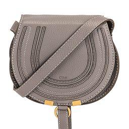 Chloe Small Marcie Crossbody Bag in Gray | FWRD