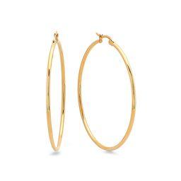 HMY Jewelry Women's Earrings Gold - Gold Hoop Earrings | Zulily