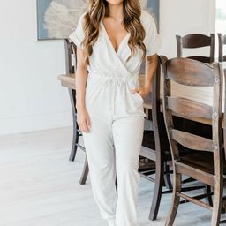 Easy Days Oatmeal Jumpsuit   The Pink Lily Boutique