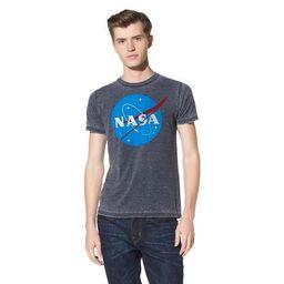 Men's NASA Short Sleeve Graphic T-Shirt Soot Black   Target