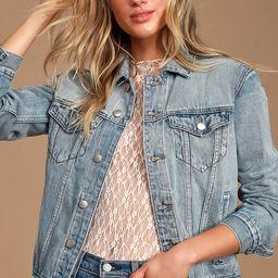 Lalah Light Blue Wash Oversized Denim Jacket | Lulus (US)