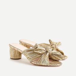 Loeffler Randall® Emilia pleated knot slide sandals | J.Crew US