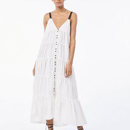 Tiered Utility Maxi Dress -- Blanc   Frame Denim