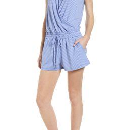 Women's Vineyard Vines Sankaty Sleeveless Stripe Short Romper, Size Small - Blue | Nordstrom