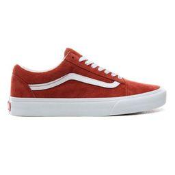 Pig Suede Old Skool Shoes | Red | Vans | Vans (UK)