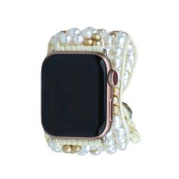 Gold Dorado Miyuki Beads Apple Watch Strap | Victoria Emerson