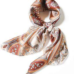"Hair Scarf Headscarf Kerchief 27"" Small Square Satin Silk Feeling Neck Scarf for Women Handbag Sc... | Amazon (US)"