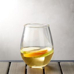 Acrylic Stemless Wine Glass + Reviews   Crate and Barrel   Crate & Barrel