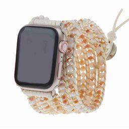 Sunrise on Ivory Apple Watch Strap - Vegan   Victoria Emerson