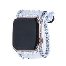 Silver Dorado on White Apple Watch Strap   Victoria Emerson