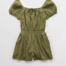 Aerie Puff Sleeve Romper | American Eagle Outfitters (US & CA)
