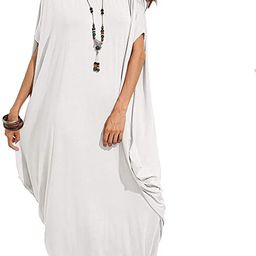 Verdusa Women's One Off Shoulder Caftan Sleeve Harem Maxi Dress | Amazon (US)
