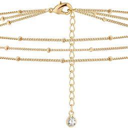 BENEIGE Dainty Gold Evil Eye Bracelet,14K Gold Plated Cute 3 Layered Satellite Beaded Pearls Tiny...   Amazon (US)