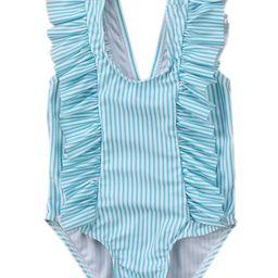 stylesilove Baby Girl Ruffle Striped Swimsuit One-Piece (70/3-6 Months, Aqua)   Walmart (US)