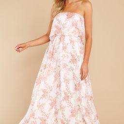 True Love Pink Floral Print Maxi Dress   Red Dress