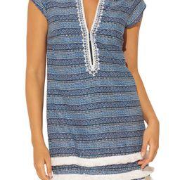 Take a Dip Plunge Neck Fringe Cover-Up Dress   Nordstrom