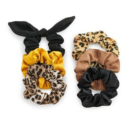 SO® Leopard Print Scrunchie Set   Kohl's