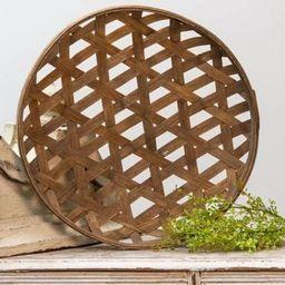Round Tobacco Basket Farmhouse Basket Farmhouse Decor | Etsy | Etsy (US)