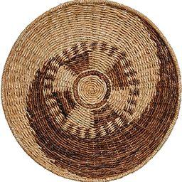 "Creative Co-op Handwoven Seagrass & Madras Décor Wall Basket, 24"", Brown | Amazon (US)"