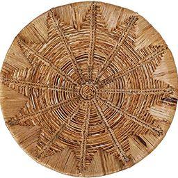 "Bloomingville 27.5"" Round Handwoven Banana Bark & Water Hyacinth Basket Décor Wall Decor, Beige | Amazon (US)"