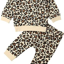 Infant Toddler Baby Boy Girl Leopard Clothing Outfit Long Sleeve Top Pants Autumn Winter Kids Clo...   Amazon (US)
