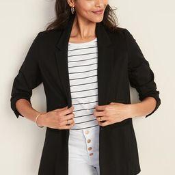 Ponte-Knit One-Button Boyfriend Blazer for Women | Old Navy (US)
