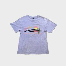 Women's Short Sleeve Boxy T-Shirt - Las Vegas Graphic - Wild Fable™ Lilac   Target