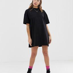 COLLUSION mini t-shirt dress in black   ASOS (Global)