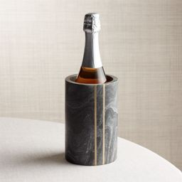 Hayes Black Marble Wine Cooler + Reviews   Crate and Barrel   Crate & Barrel