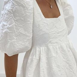 Felicity Volume Bow Tie Dress | White | Vita Grace