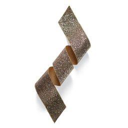 4' Satin Rock Glitter Gold Ribbon   Frontgate   Frontgate