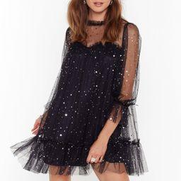 Star and Wide Mesh Mini Dress | NastyGal (US & CA)