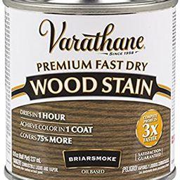 Varathane 307415 Premium Fast Dry Wood Stain, 1/2 Pint, Briarsmoke | Amazon (US)