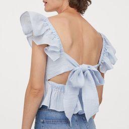 Tie-back Ruffled Top   H&M (US)