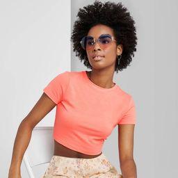 Women's Short Sleeve Cropped T-Shirt - Wild Fable™ (Regular & Plus)   Target