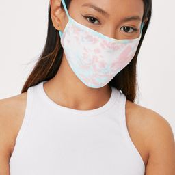 Watch Your Mouth Tie Dye Fashion Face Mask   NastyGal (US & CA)