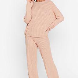 High-Waisted Sweater And Ribbed Pants Lounge Set   NastyGal (US & CA)