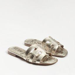 Sam Edelman Bay Slide Sandal Light Gold Leather | Sam Edelman