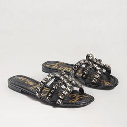 Sam Edelman Bay Embellished Slide Sandal Black Leather | Sam Edelman